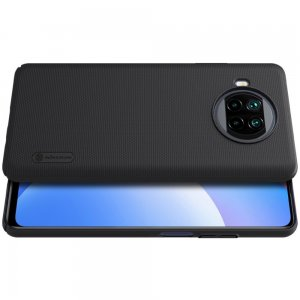 NILLKIN Super Frosted Shield Матовая Пластиковая Нескользящая Клип кейс накладка для Xiaomi Mi 10T Lite - Черный