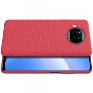 NILLKIN Super Frosted Shield Матовая Пластиковая Нескользящая Клип кейс накладка для Xiaomi Mi 10T Lite - Красный