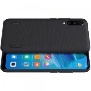 NILLKIN Super Frosted Shield Матовая Пластиковая Нескользящая Клип кейс накладка для Xiaomi Mi A3 - Черный