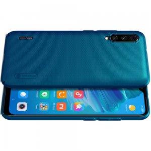 NILLKIN Super Frosted Shield Матовая Пластиковая Нескользящая Клип кейс накладка для Xiaomi Mi A3 - Синий