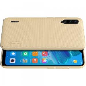 NILLKIN Super Frosted Shield Матовая Пластиковая Нескользящая Клип кейс накладка для Xiaomi Mi A3 - Золотой