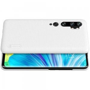 NILLKIN Super Frosted Shield Матовая Пластиковая Нескользящая Клип кейс накладка для Xiaomi Mi Note 10 - Белый