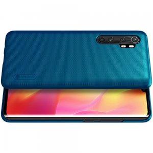 NILLKIN Super Frosted Shield Матовая Пластиковая Нескользящая Клип кейс накладка для Xiaomi Mi Note 10 Lite - Синий