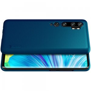 NILLKIN Super Frosted Shield Матовая Пластиковая Нескользящая Клип кейс накладка для Xiaomi Mi Note 10 - Синий
