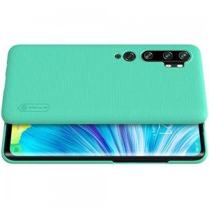 NILLKIN Super Frosted Shield Матовая Пластиковая Нескользящая Клип кейс накладка для Xiaomi Mi Note 10 - Зеленый