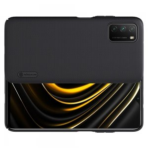 NILLKIN Super Frosted Shield Матовая Пластиковая Нескользящая Клип кейс накладка для Xiaomi Poco M3 - Черный