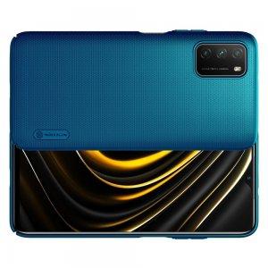 NILLKIN Super Frosted Shield Матовая Пластиковая Нескользящая Клип кейс накладка для Xiaomi Poco M3 - Синий