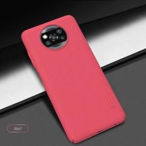 NILLKIN Super Frosted Shield Матовая Пластиковая Нескользящая Клип кейс накладка для Xiaomi Poco X3 NFC - Черный