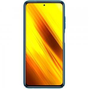 NILLKIN Super Frosted Shield Матовая Пластиковая Нескользящая Клип кейс накладка для Xiaomi Poco X3 NFC - Синий