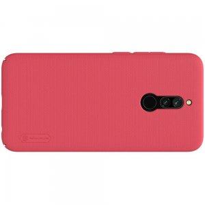 NILLKIN Super Frosted Shield Матовая Пластиковая Нескользящая Клип кейс накладка для Xiaomi Redmi 8 - Красный