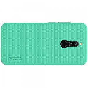 NILLKIN Super Frosted Shield Матовая Пластиковая Нескользящая Клип кейс накладка для Xiaomi Redmi 8 - Зеленый