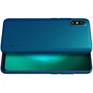 NILLKIN Super Frosted Shield Матовая Пластиковая Нескользящая Клип кейс накладка для Xiaomi Redmi 9A - Синий