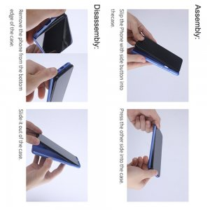 NILLKIN Super Frosted Shield Матовая Пластиковая Нескользящая Клип кейс накладка для Xiaomi Redmi 9T - Черный