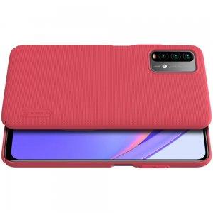 NILLKIN Super Frosted Shield Матовая Пластиковая Нескользящая Клип кейс накладка для Xiaomi Redmi 9T - Красный