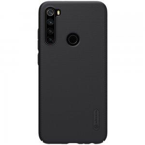 NILLKIN Super Frosted Shield Матовая Пластиковая Нескользящая Клип кейс накладка для Xiaomi Redmi Note 8 - Черный