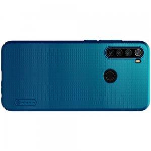 NILLKIN Super Frosted Shield Матовая Пластиковая Нескользящая Клип кейс накладка для Xiaomi Redmi Note 8T - Синий