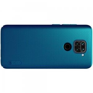 NILLKIN Super Frosted Shield Матовая Пластиковая Нескользящая Клип кейс накладка для Xiaomi Redmi Note 9 - Синий