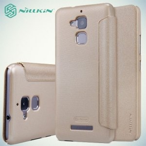 Nillkin ультра тонкий чехол книжка для Asus ZenFone 3 Max ZC520TL - Sparkle Case Золотой