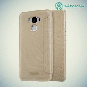 Nillkin ультра тонкий чехол книжка для Asus ZenFone 3 Max ZC553KL - Sparkle Case Золотой