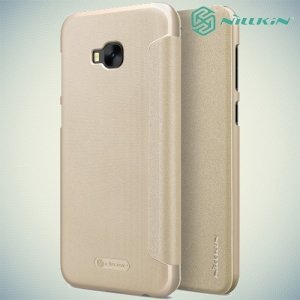 Nillkin ультра тонкий чехол книжка для Asus Zenfone 4 Selfie Pro ZD552KL - Sparkle Case Золотой