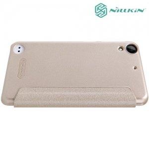 Nillkin ультра тонкий чехол книжка для HTC Desire 530 / 630 - Sparkle Case Золотой