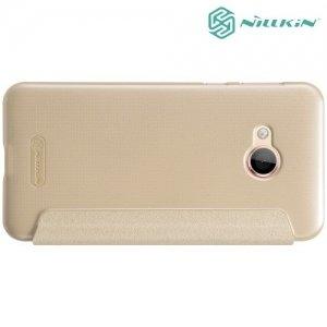 Nillkin ультра тонкий чехол книжка для HTC U Play - Sparkle Case Золотой