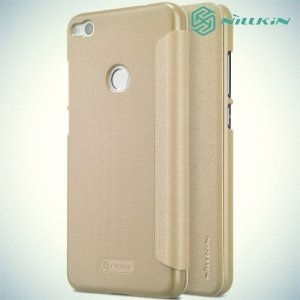Nillkin ультра тонкий чехол книжка для Huawei Honor 8 lite / P8 lite (2017) - Sparkle Case Золотой