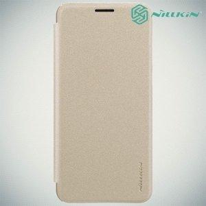 Nillkin ультра тонкий чехол книжка для Huawei nova 2s - Sparkle Case Золотой