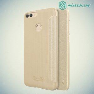 Nillkin ультра тонкий чехол книжка для Huawei P Smart - Sparkle Case Золотой
