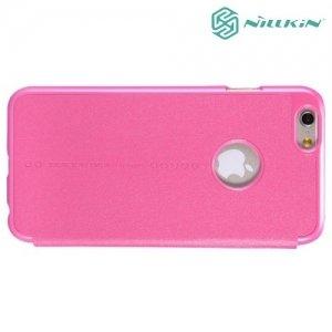 Nillkin ультра тонкий чехол книжка для iPhone 6S / 6 - Sparkle Case Розовый
