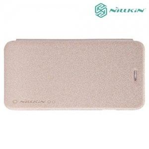 Nillkin ультра тонкий чехол книжка для iPhone 6S / 6 - Sparkle Case Золотой