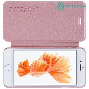 Nillkin ультра тонкий чехол книжка для iPhone 8/7 - Sparkle Case Розовое золото