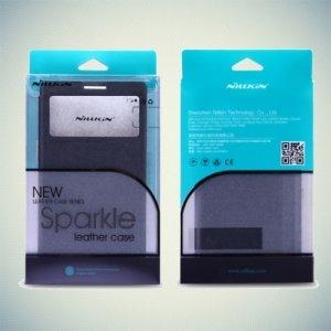 Nillkin ультра тонкий чехол книжка для LG Class H650E - Sparkle Case Золотой