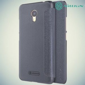 Nillkin ультра тонкий чехол книжка для Meizu M5c - Sparkle Case Серый