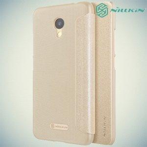 Nillkin ультра тонкий чехол книжка для Meizu M5c - Sparkle Case Золотой