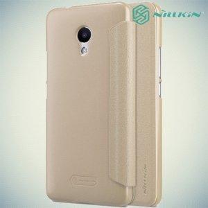 Nillkin ультра тонкий чехол книжка для Meizu M5s - Sparkle Case Золотой