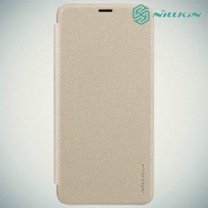 Nillkin ультра тонкий чехол книжка для Meizu M6s - Sparkle Case Золотой