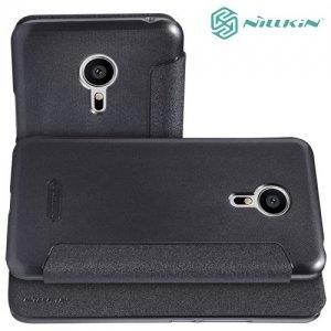 Nillkin ультра тонкий чехол книжка для Meizu PRO 5 - Sparkle Case Серый