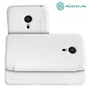 Nillkin ультра тонкий чехол книжка для Meizu PRO 5 - Sparkle Case Белый