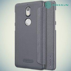 Nillkin ультра тонкий чехол книжка для Nokia 7 - Sparkle Case Серый