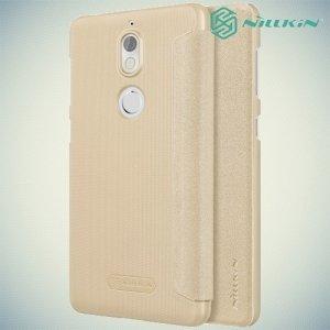 Nillkin ультра тонкий чехол книжка для Nokia 7 - Sparkle Case Золотой