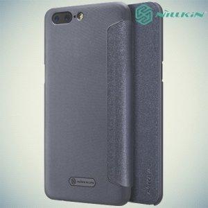 Nillkin ультра тонкий чехол книжка для OnePlus 5 - Sparkle Case Серый