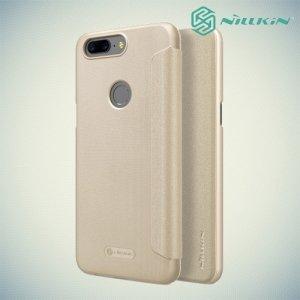 Nillkin ультра тонкий чехол книжка для OnePlus 5T - Sparkle Case Золотой