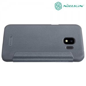 Nillkin ультра тонкий чехол книжка для Samsung Galaxy J2 (2018) SM-J250F - Sparkle Case Серый