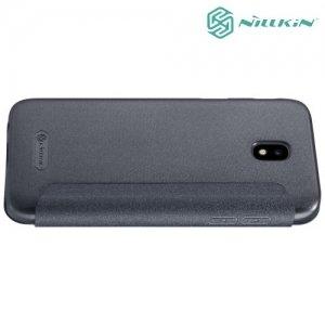 Nillkin ультра тонкий чехол книжка для Samsung Galaxy J5 2017 SM-J530F - Sparkle Case Серый