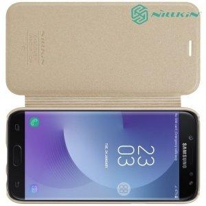 Nillkin ультра тонкий чехол книжка для Samsung Galaxy J5 2017 SM-J530F - Sparkle Case Золотой