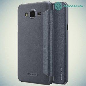 Nillkin ультра тонкий чехол книжка для Samsung Galaxy J7 Neo - Sparkle Case Серый