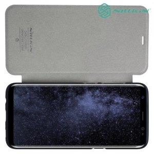 Nillkin ультра тонкий чехол книжка для Samsung Galaxy S8 - Sparkle Case Серый
