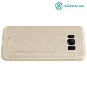 Nillkin ультра тонкий чехол книжка для Samsung Galaxy S8 - Sparkle Case Золотой