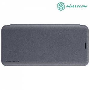 Nillkin ультра тонкий чехол книжка для Samsung Galaxy S9 Plus - Sparkle Case Серый